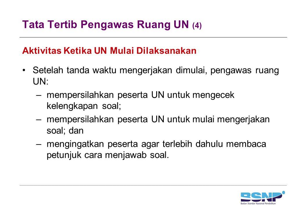 Tata Tertib Pengawas Ruang UN