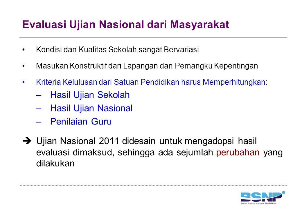 Perubahan Ujian Nasional 2011