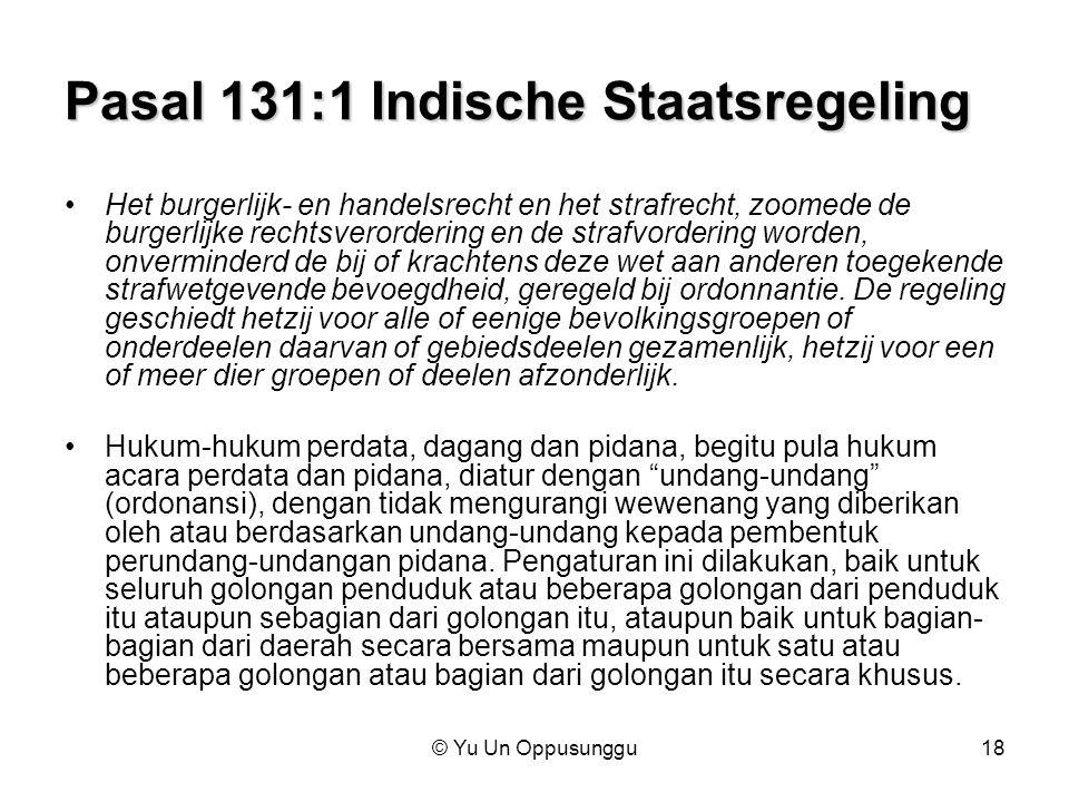 Pasal 131:1 Indische Staatsregeling