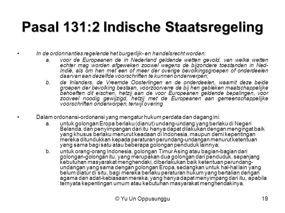 Pasal 131:2 Indische Staatsregeling