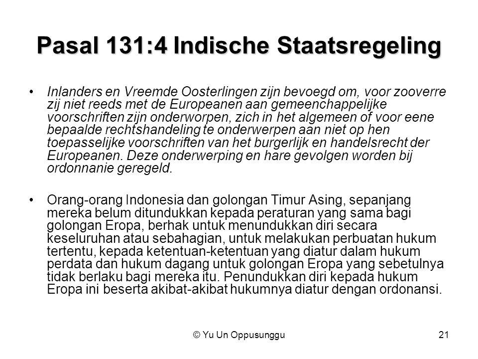 Pasal 131:4 Indische Staatsregeling