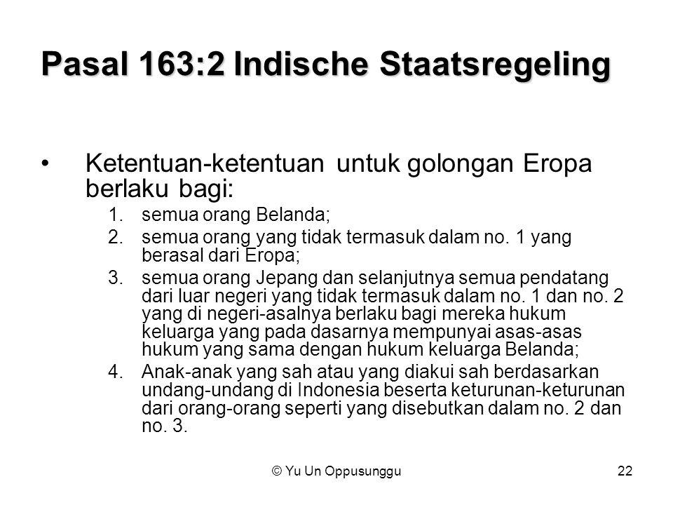 Pasal 163:2 Indische Staatsregeling