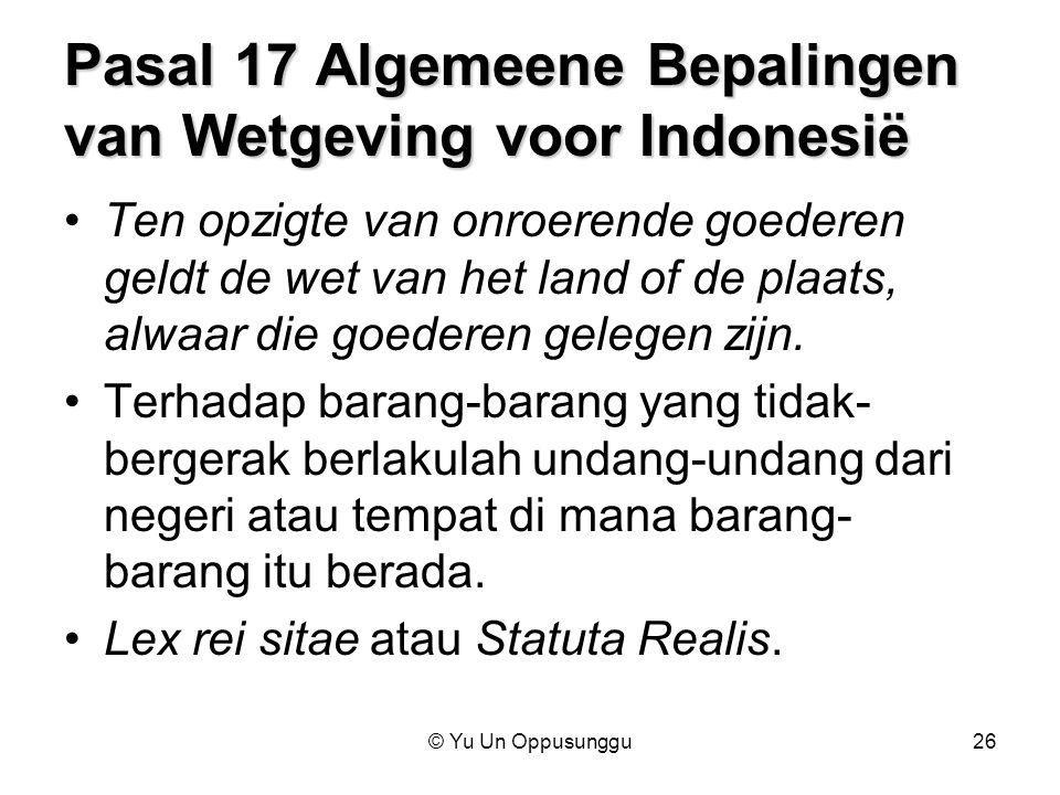 Pasal 17 Algemeene Bepalingen van Wetgeving voor Indonesië