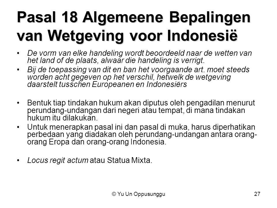 Pasal 18 Algemeene Bepalingen van Wetgeving voor Indonesië