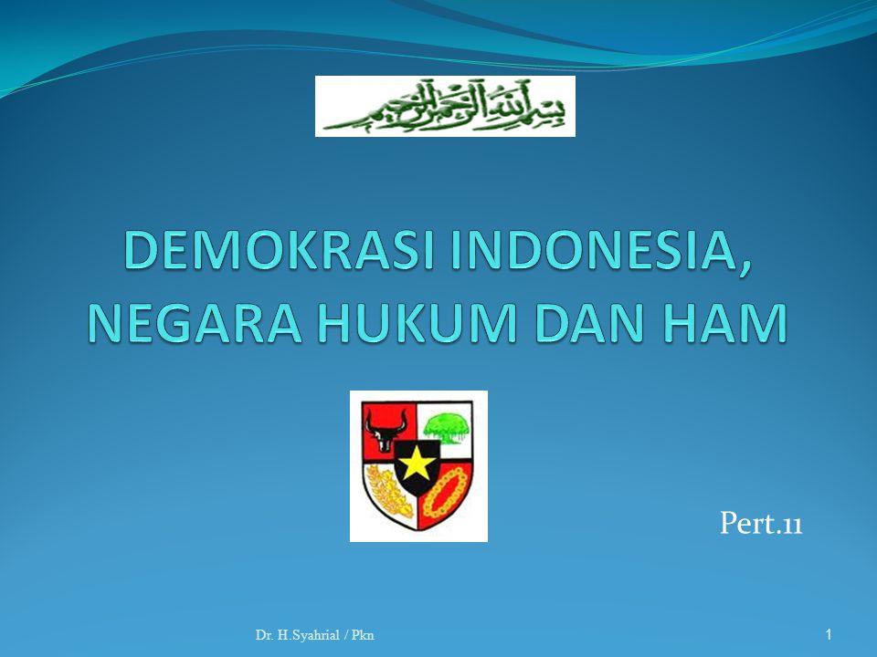 DEMOKRASI INDONESIA, NEGARA HUKUM DAN HAM