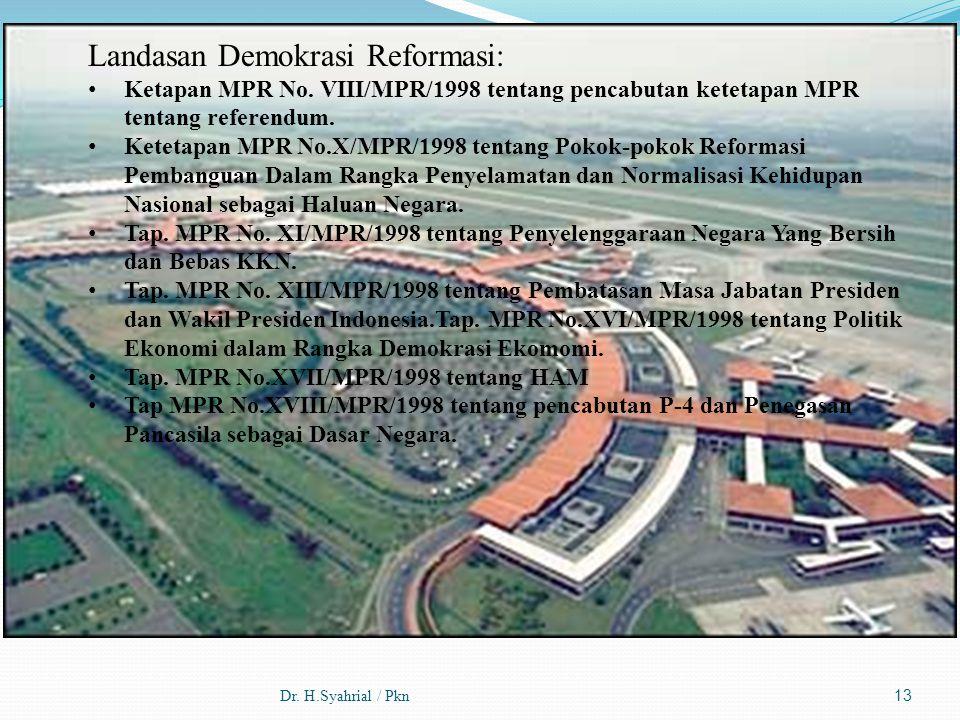 Landasan Demokrasi Reformasi: