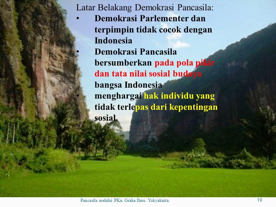 Latar Belakang Demokrasi Pancasila: