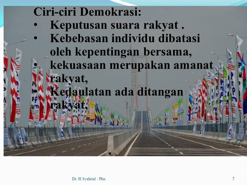 Keputusan suara rakyat .