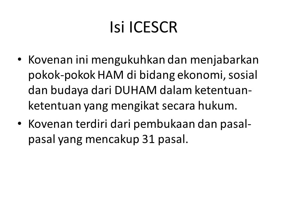 Isi ICESCR