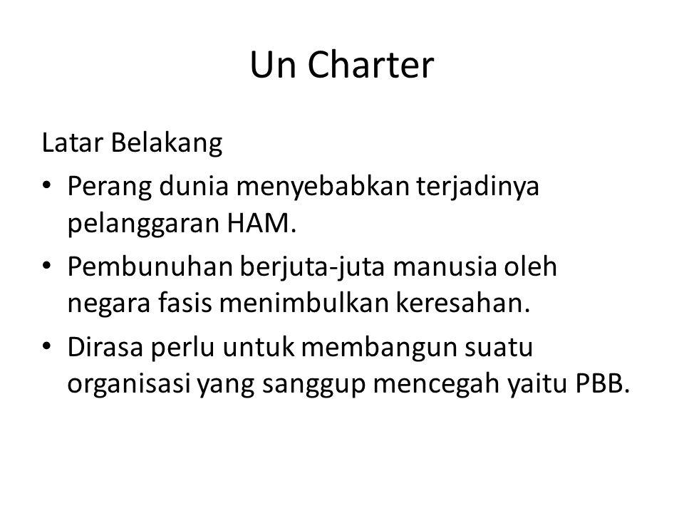 Un Charter Latar Belakang