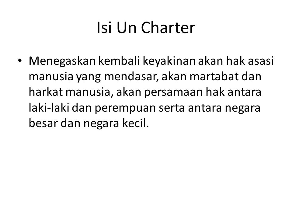 Isi Un Charter
