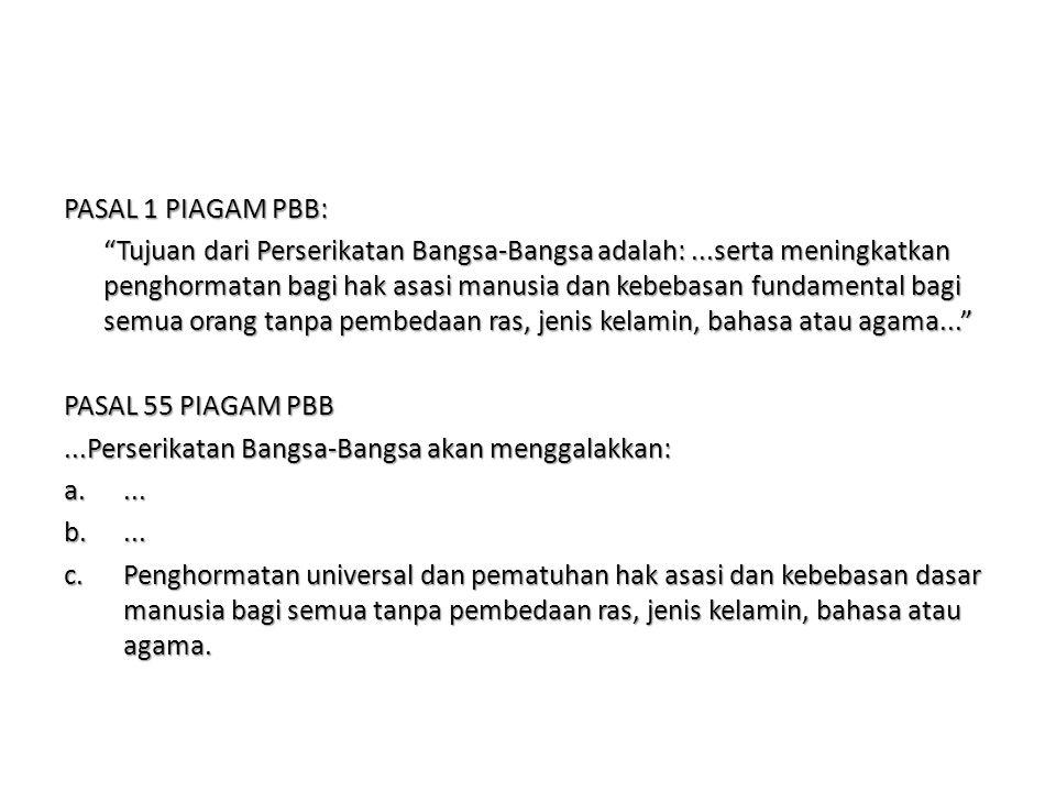PASAL 1 PIAGAM PBB: