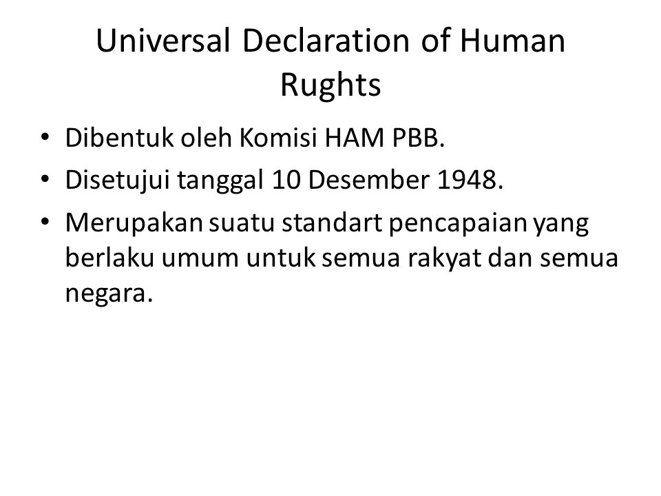 Universal Declaration of Human Rughts
