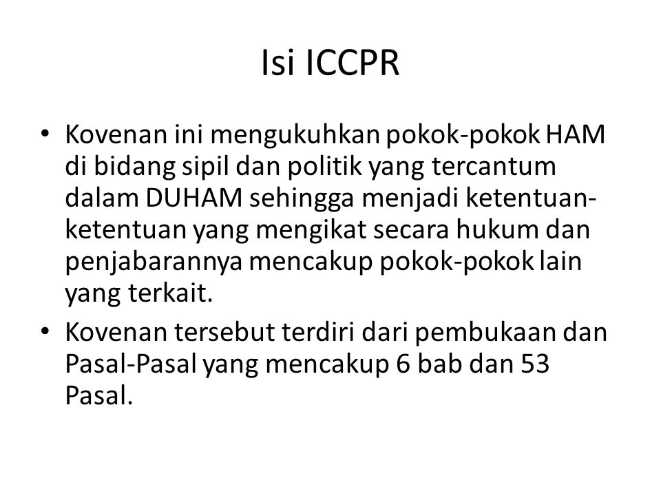 Isi ICCPR