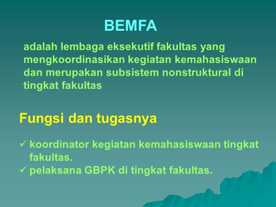 BEMFA Fungsi dan tugasnya