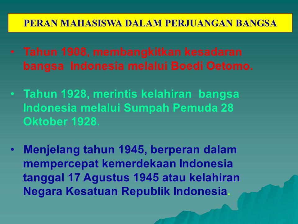 PERAN MAHASISWA DALAM PERJUANGAN BANGSA