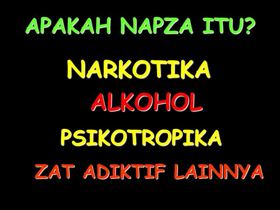 APAKAH NAPZA ITU NARKOTIKA ALKOHOL PSIKOTROPIKA ZAT ADIKTIF LAINNYA