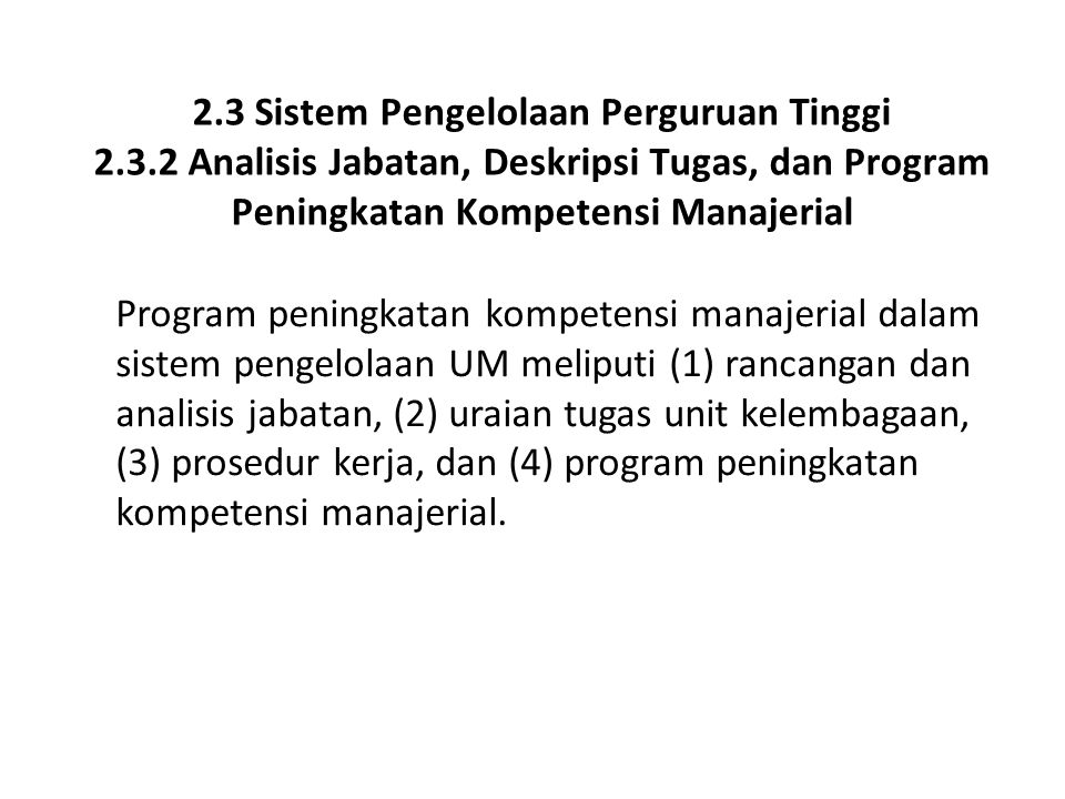 2. 3 Sistem Pengelolaan Perguruan Tinggi 2. 3