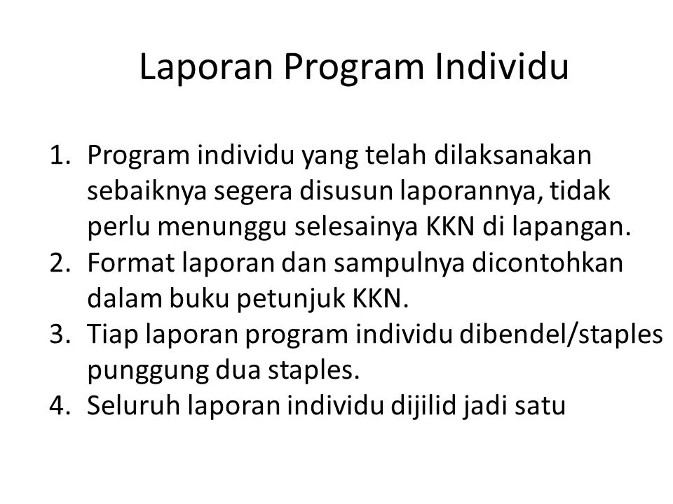 Laporan Program Individu