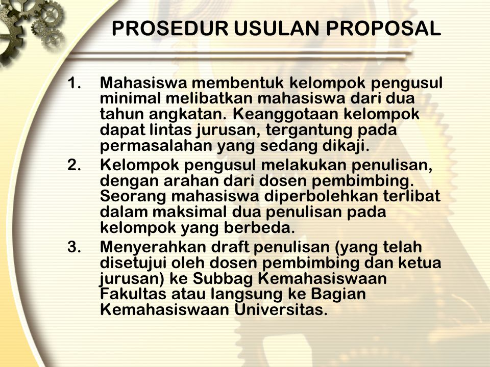 PROSEDUR USULAN PROPOSAL
