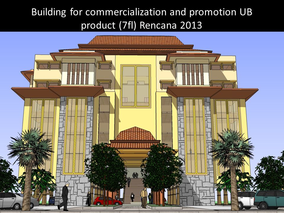 Building for commercialization and promotion UB product (7fl) Rencana 2013