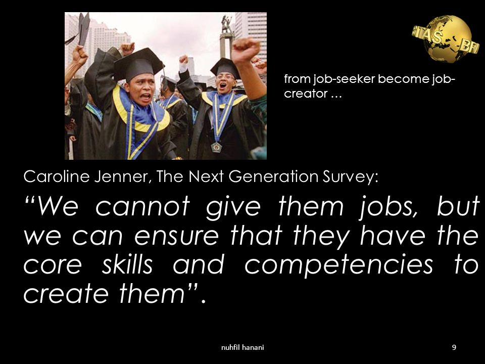 from job-seeker become job-creator …