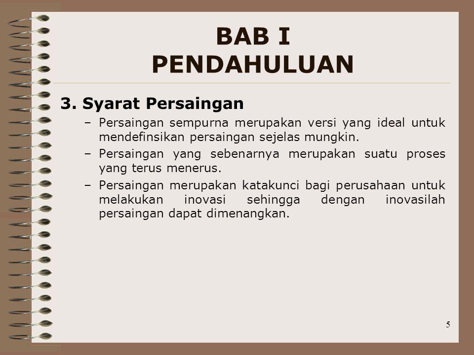 BAB I PENDAHULUAN 3. Syarat Persaingan