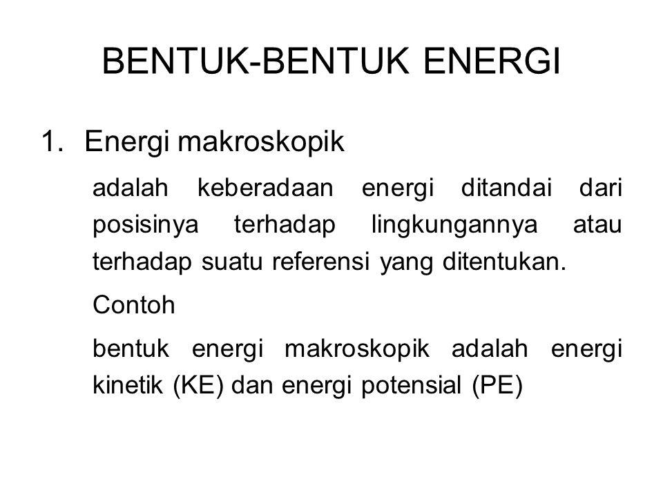 BENTUK-BENTUK ENERGI Energi makroskopik