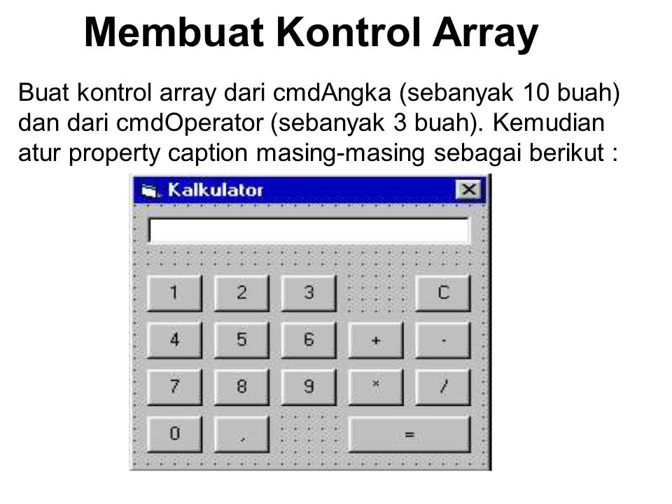Membuat Kontrol Array