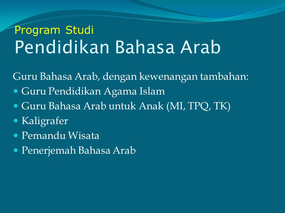 Program Studi Pendidikan Bahasa Arab