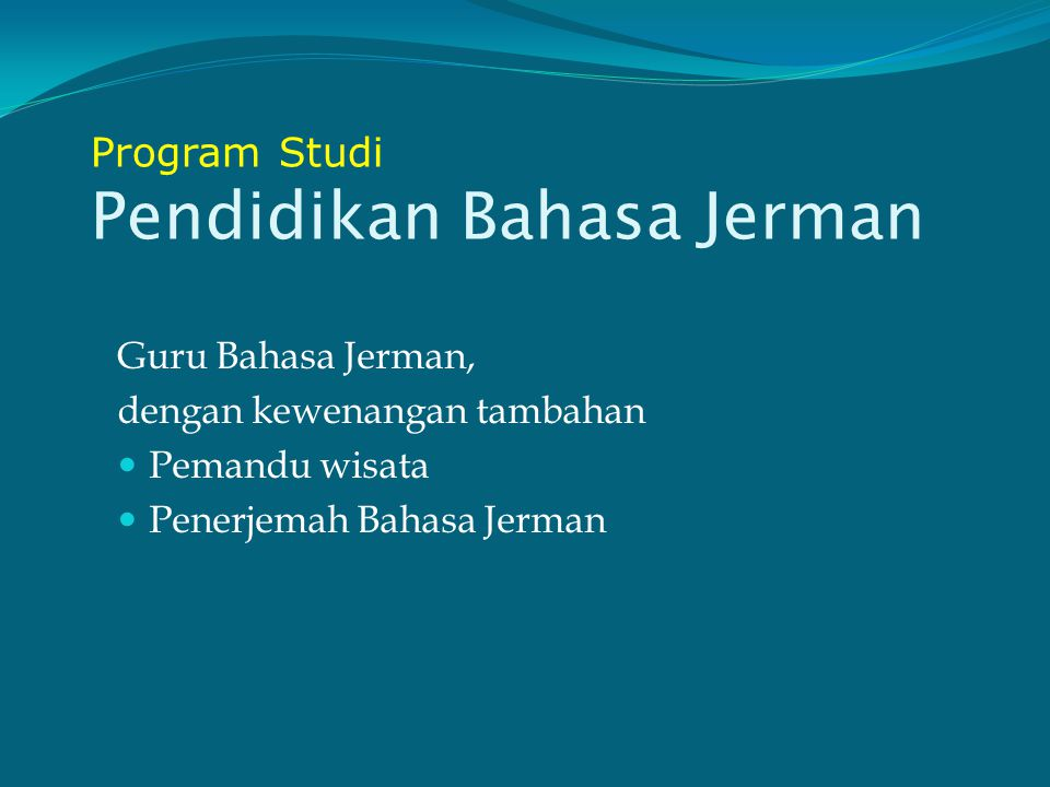Program Studi Pendidikan Bahasa Jerman