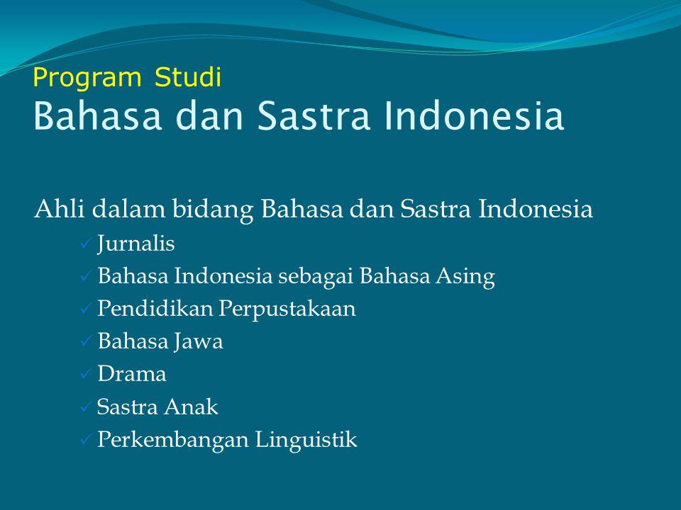 Program Studi Bahasa dan Sastra Indonesia