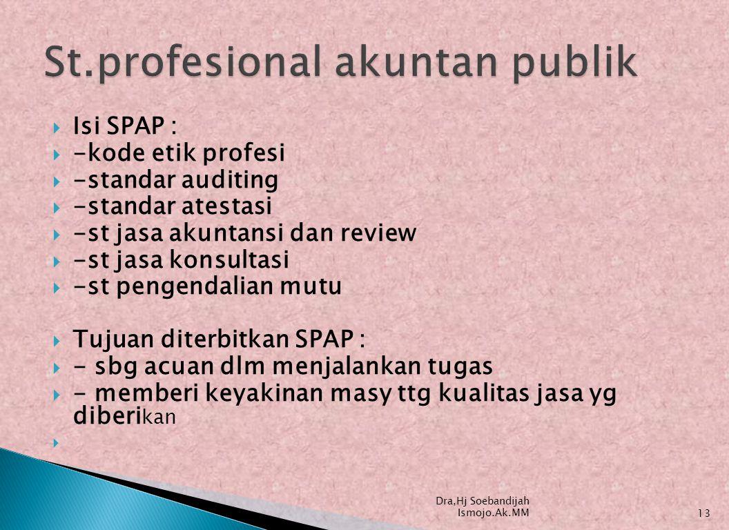 St.profesional akuntan publik