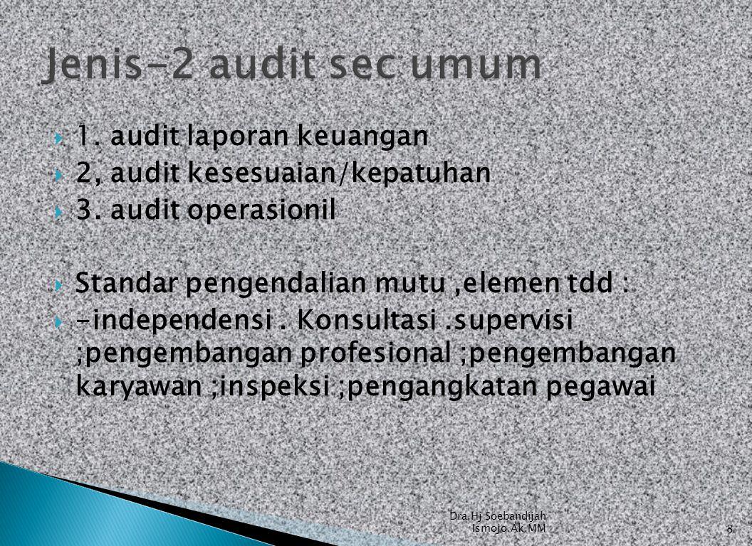 Jenis-2 audit sec umum 1. audit laporan keuangan