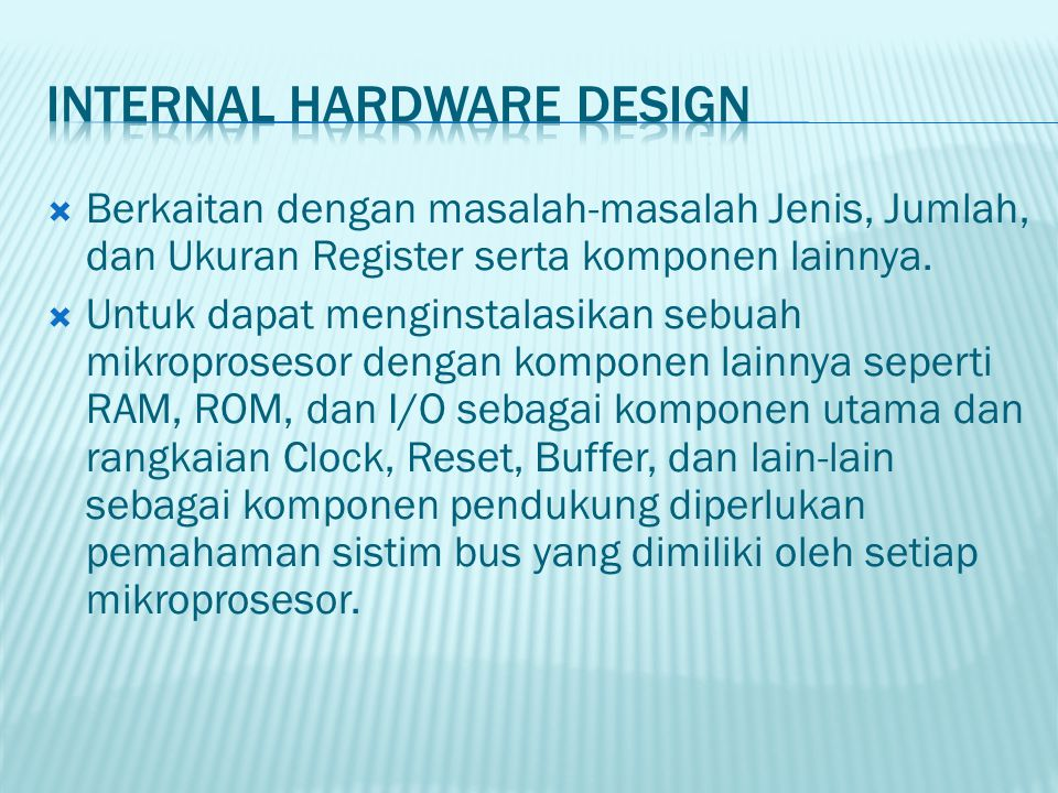 Internal Hardware Design