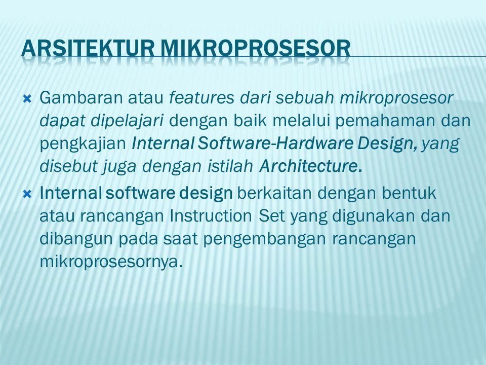 Arsitektur Mikroprosesor
