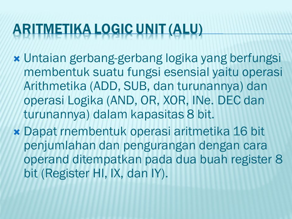 Aritmetika logic Unit (AlU)