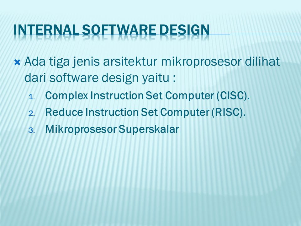 Internal Software Design