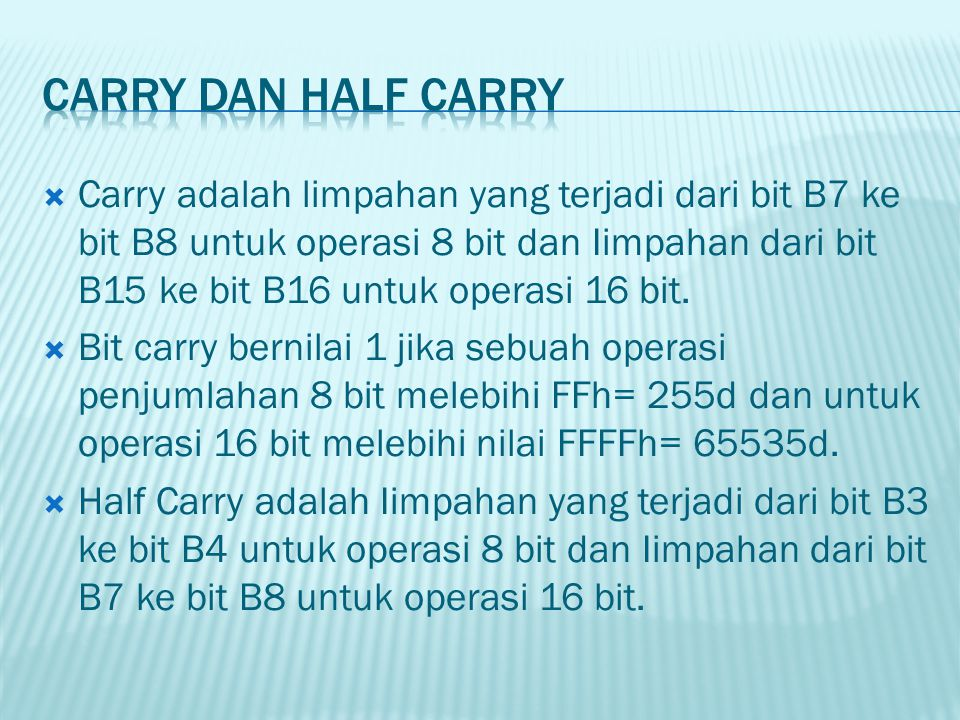 Carry dan Half Carry