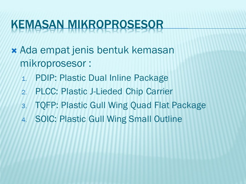 KEMASAN mikroprosesor