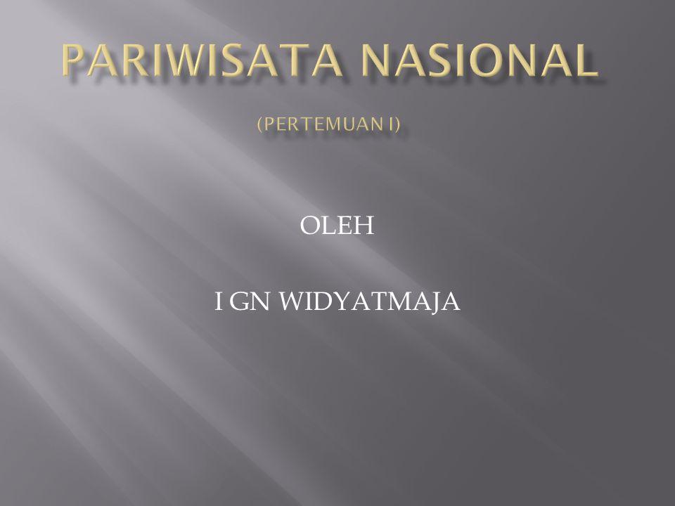 PARIWISATA NASIONAL (pertemuan I)