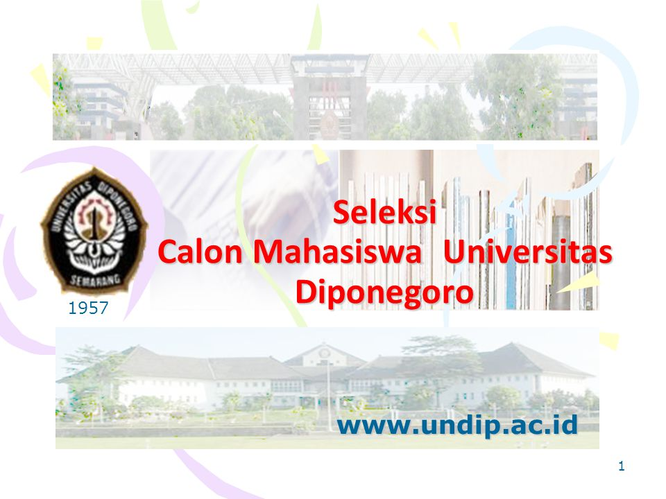 Seleksi Calon Mahasiswa Universitas Diponegoro