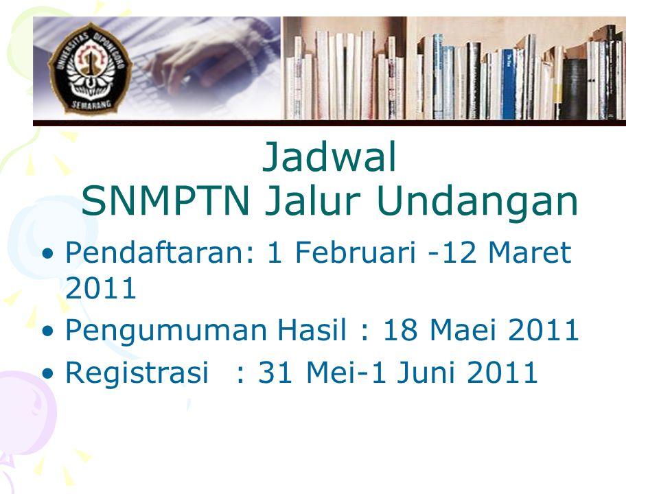 Jadwal SNMPTN Jalur Undangan