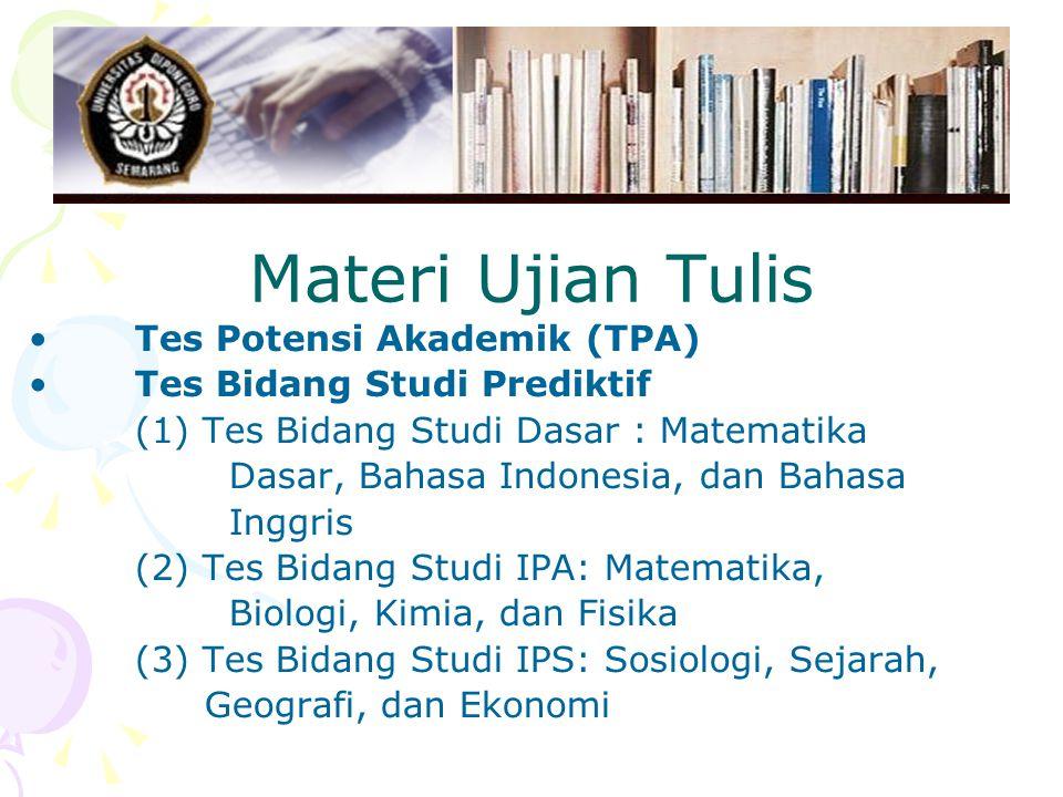 Materi Ujian Tulis Tes Potensi Akademik (TPA)
