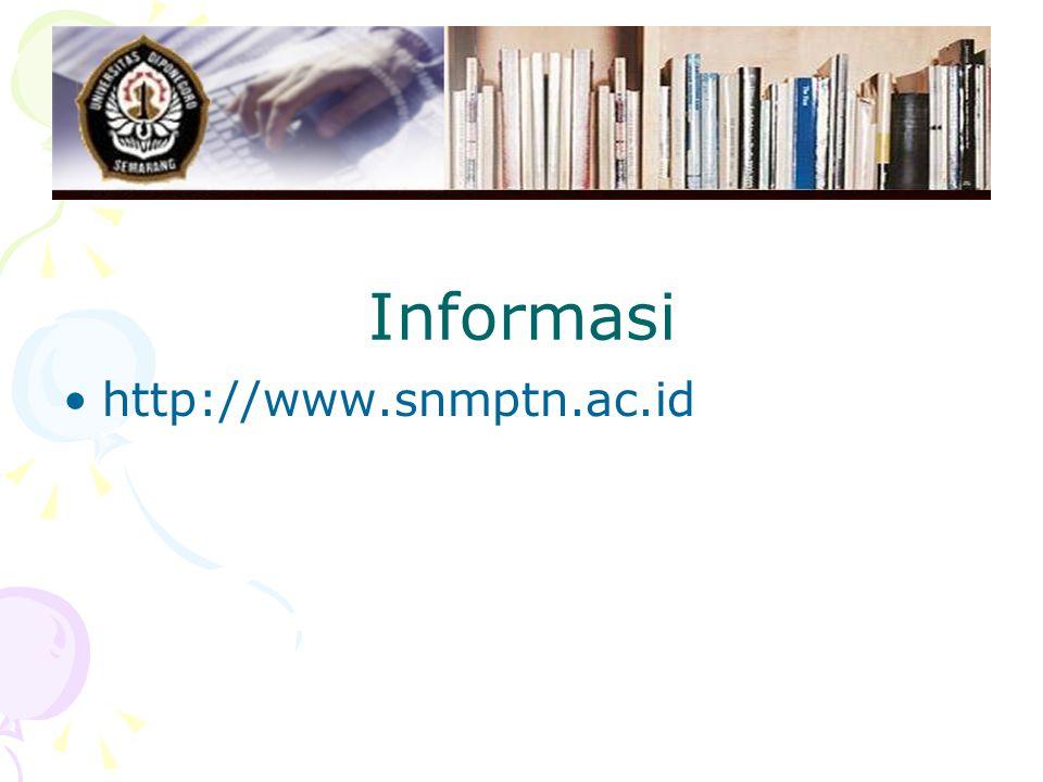 Informasi http://www.snmptn.ac.id