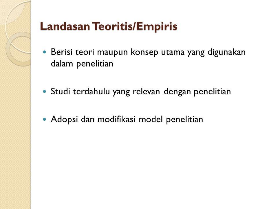 Landasan Teoritis/Empiris