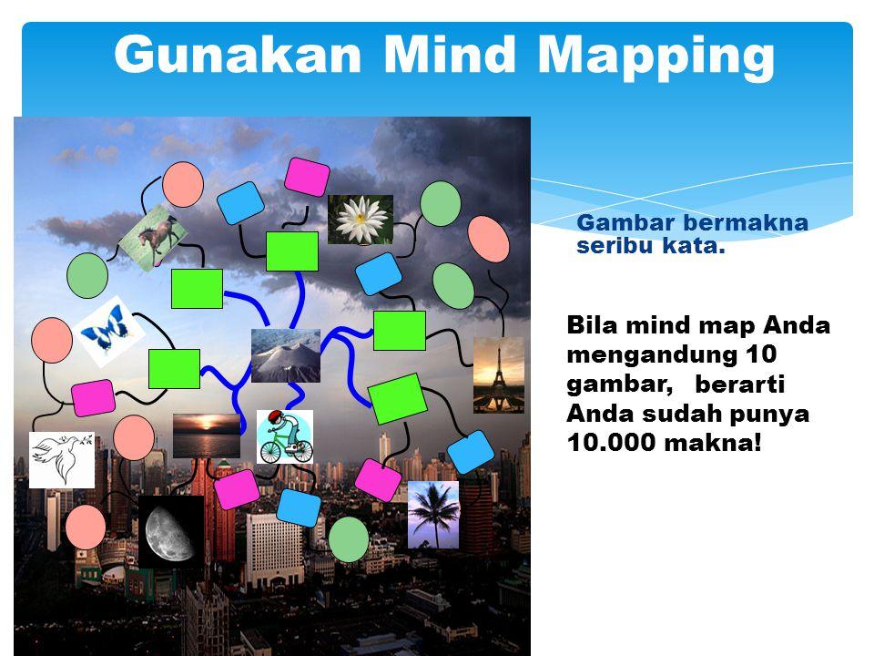 Gunakan Mind Mapping Bila mind map Anda mengandung 10 gambar,