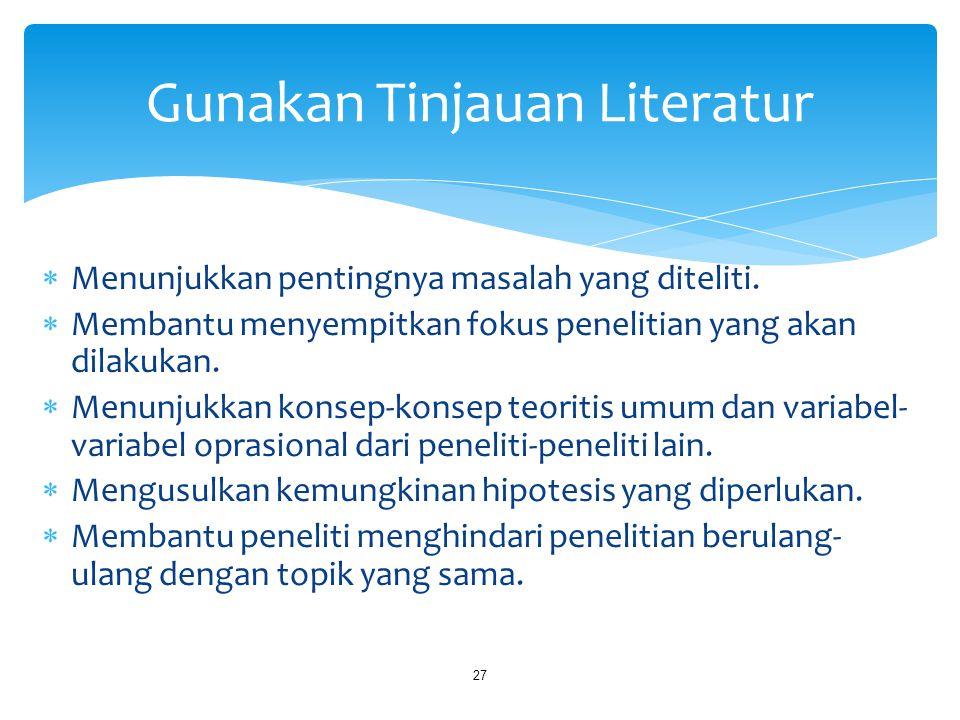 Gunakan Tinjauan Literatur