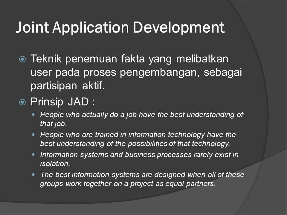 Joint Application Development