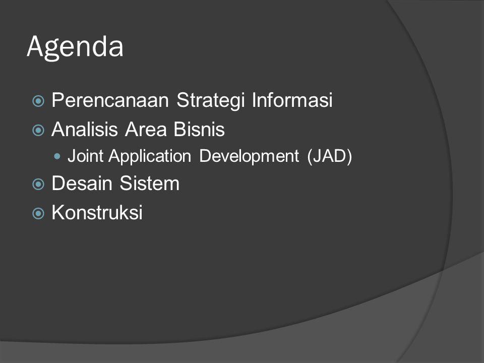 Agenda Perencanaan Strategi Informasi Analisis Area Bisnis